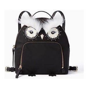 Kate Spade Owl Microfiber Backpack NWT